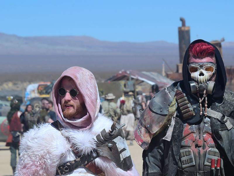 Imagine San Diego Comic-Con but for fans of Mad Max and the Fallout console games, who aren't too fussy about pristine restrooms. That's Wastelands Weekend. (AFP)