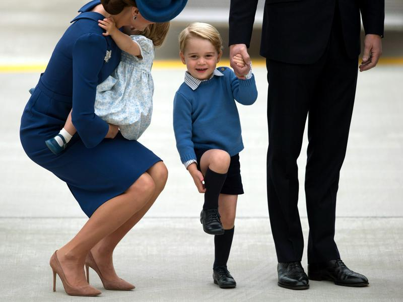 How is she carrying a baby in those stunning nude suede heels is beyond us. (AP)