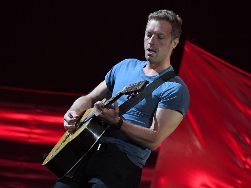 Musician Chris Martin performs at the 2016 Global Citizen Festival in Central Park. The Global Citizen Festival, broadcast live from the vast lawn of New York's Central Park, distributes tickets to fans who commit to petitions and other actions aimed at ending extreme poverty. (AFP)