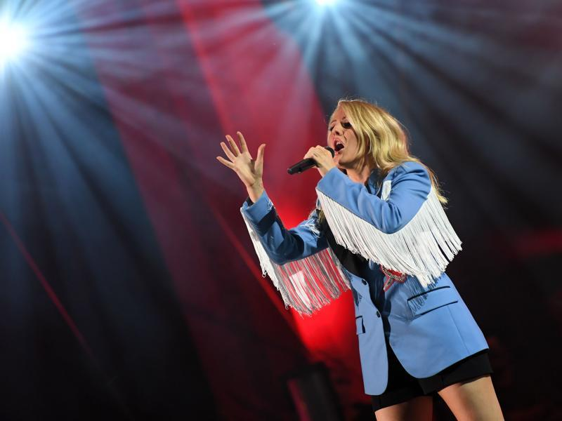 Singer Ellie Goulding performs at the 2016 Global Citizen Festival in Central Park. (AFP)