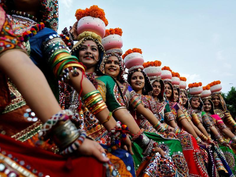The nine-day festival will begin from October 1 this year. Women take part in Garba rehearsals in Ahmedabad ahead of Navratri,  the festival in which Hindu goddess Durga is worshipped.  (Reuters)