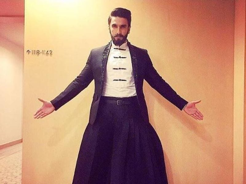 Even Ranveer Singh looked dapper as ever in this monotone ensemble with a very fancy pair of pants that we've never seen before. (Instagram)