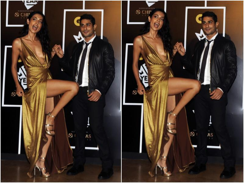 But we are pretty sure it was Sarah Jane Dias who stole the show with her golden gown which flowed like a river. So hot! She was accompanied by Prateik Babbar. (AFP)