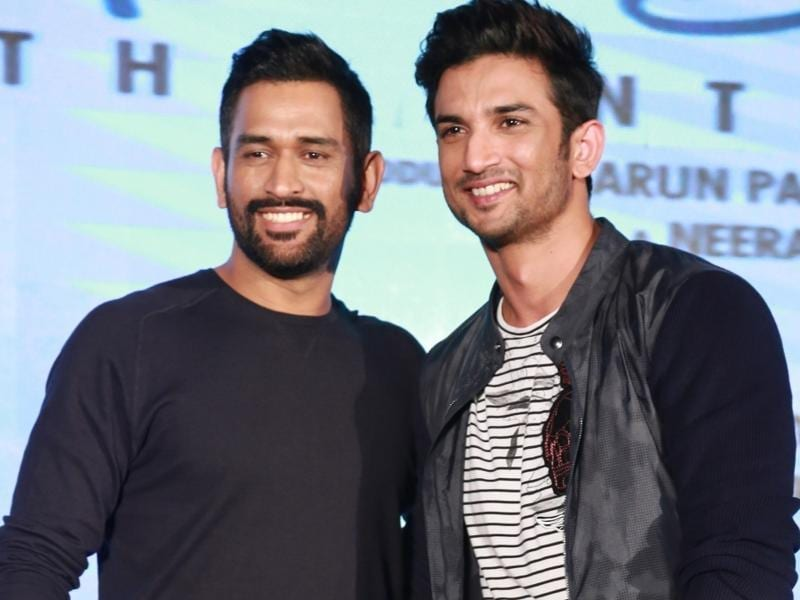Indian cricketer MS Dhoni with actor Sushant Singh Rajput during promotion of MS Dhoni : The Untold Story in New Delhi. (IANS Photo)
