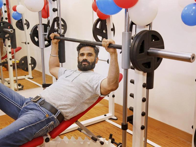 Suniel Shetty is still one of the fittest actors in Bollywood. (PTI Photo)