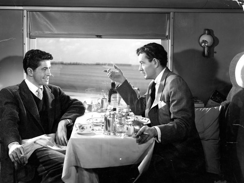 Strangers on a Train (1951) - A psychotic socialite confronts a pro tennis star with a theory on how two complete strangers can get away with murder - a theory that he plans to implement. (IMDb)
