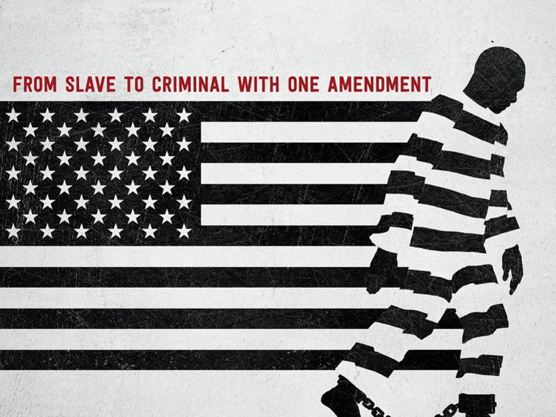 Selma director Ava DuVernay's in-depth look at the prison system in the United States and how it reveals the nation's history of racial inequality. The film is releasing on Netflix.