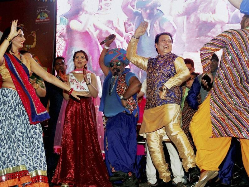 Govinda danced to one of his hits from the film Raja Babu. (PTI Photo)