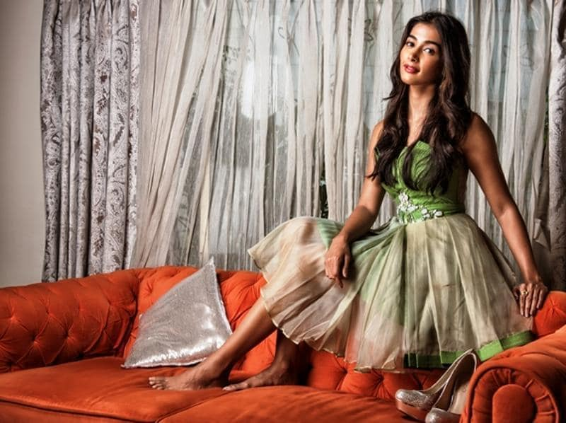 Mohenjo Daro  (2016) actor, Pooja Hegde poses for the camera at her Bandra residence.  (Photo: Aalok Soni/HT)
