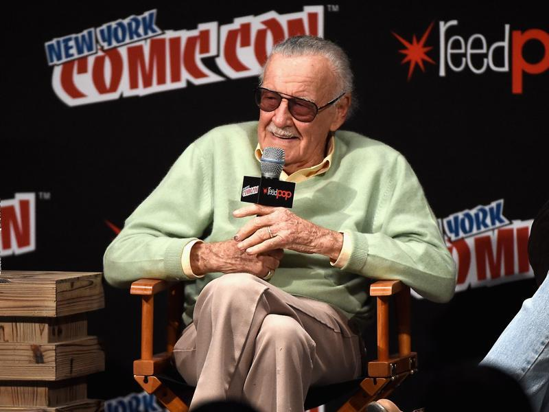 Stan Lee speak onstage at Stan Lee Creators Roundtable at Madison Square Garden on October 7, 2016 in New York City.  (AFP)