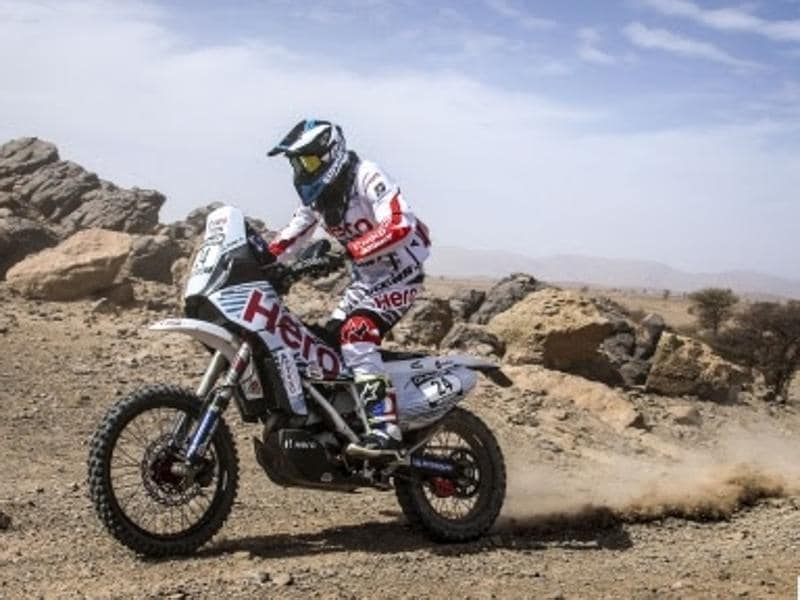 The 31-year-old Santosh, who is based out of Bengaluru, was in the top-25 after the first two legs of the rally. He looked set for a top-20 finish before misfortune struck him on the third day.  Making up 40-odd places in a field of world-class riders is impossible after starting from the back of the grid (65th). But that didn't stop Santosh from trying. (Hero motosports)