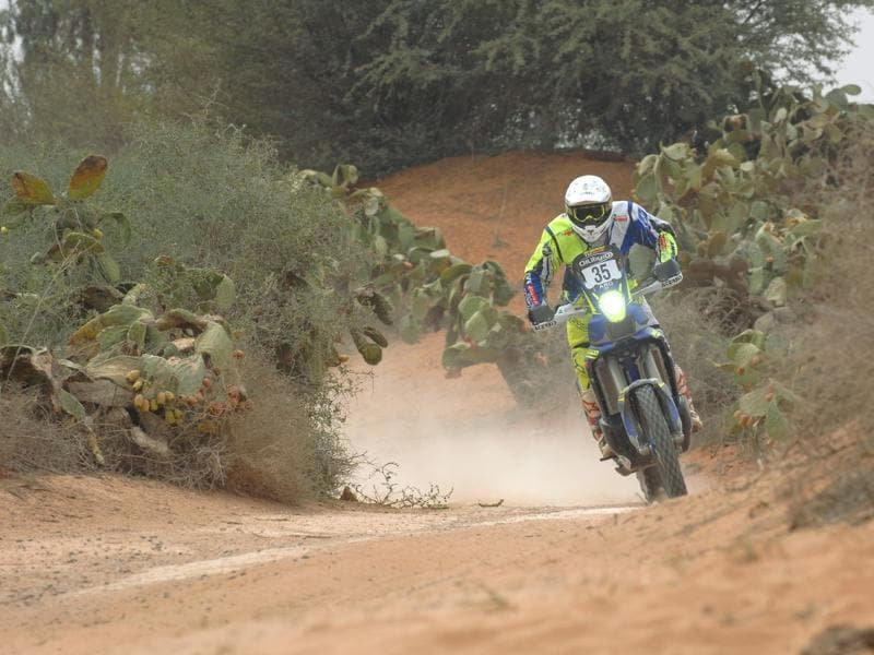 Aravind, who has always been a fast rider, seems to have picked up the fine art of pacing, which is an important quality for cross country rallies. Dakar is a much tougher proposition but the experience and confidence he has gained in Morocco will come in handy there. (Sherco-TVS Rally)