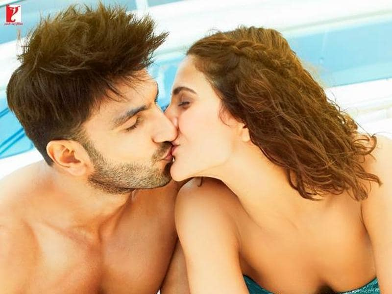 The makers of Befikre have been sharing pictures of the lead couple, and they are kissing in ALL the pictures!
