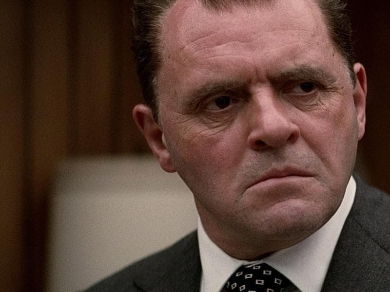 Anthony Hopkins played Richard Nixon in Oliver Stone's biopic.