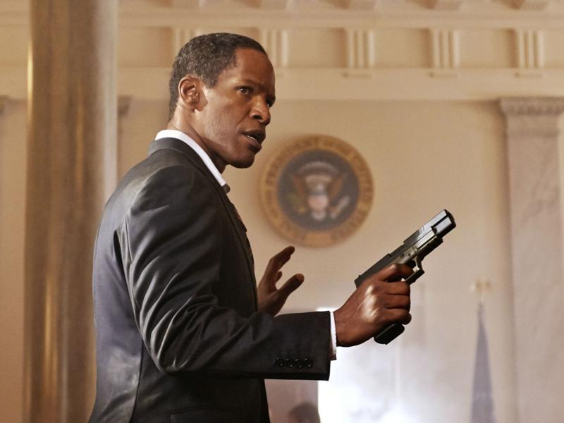 Jamie Foxx and his Jordans played the action hero President William Sawyer in White House Down.
