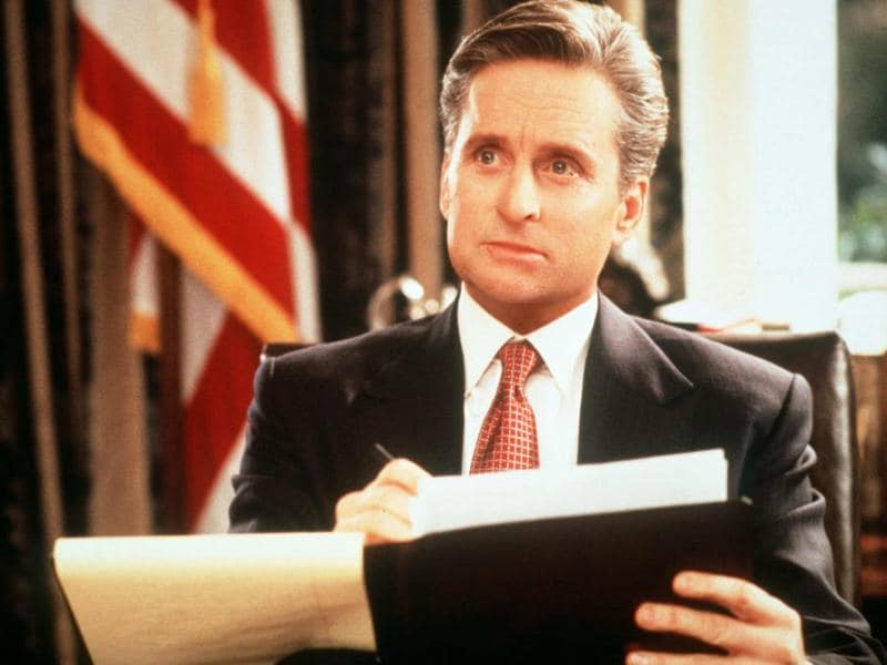 Michael Douglas' President Andrew Shepard is one of the most human Presidents to ever be portrayed on screen