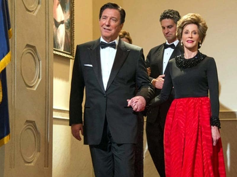 The late, great Alan Rickman played Ronald Reagan in the overstuffed-with-presidents movie The Butler.