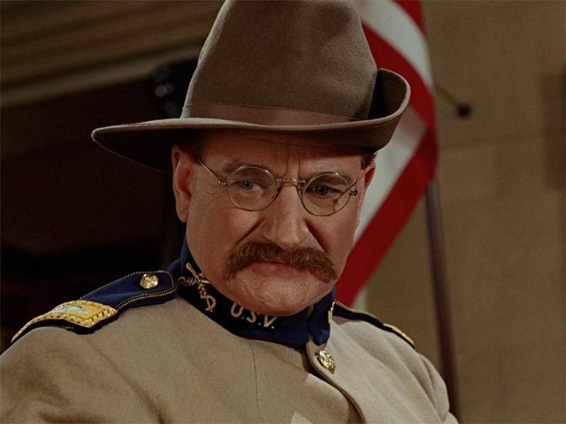 Who would've thought that one of Robin Williams' most iconic roles would be playing President Theodore Roosevelt in the Night at the Museum movies?