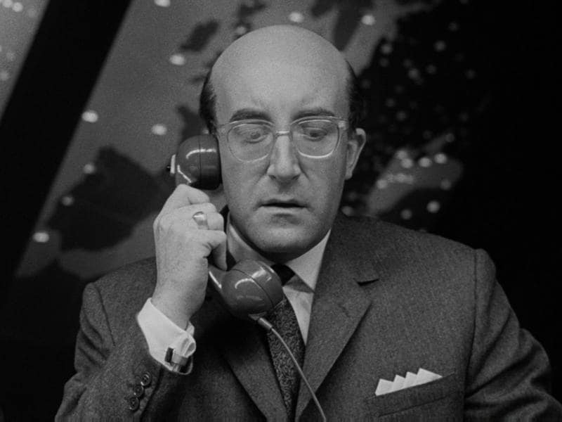 Ladies and gentlemen, here's Peter Seller as President Merkin Muffley in Stanley Kubrick's classic satire Dr Strangelove or: How I Learned to Stop Worrying and Love the Bomb.