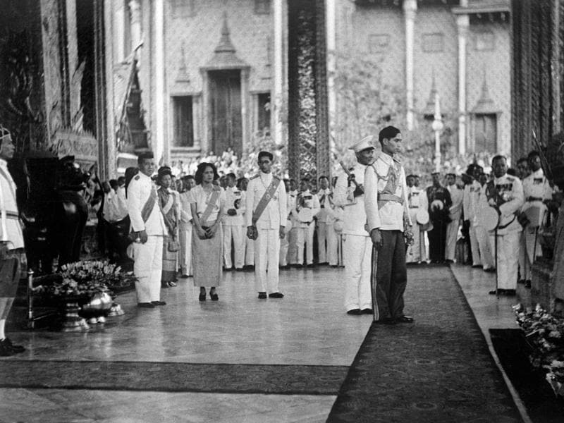 This file photo taken on January 01, 1946 shows King of Siam Rama VIII or Ananda Mahidol of Thailand stands during an official ceremony on January 1946 in Bangkok after his return from Switzerland to Thailand. Rama VIII born on September 20, 1925 in Heidelberg, Germany, was mostly away pursuing his studies in Switzerland before returning to Thailand in 1945. On June 9, 1946 he was found dead in his bed of a mysterious gunshot wound at the palace in Bangkok. His brother King Bhumibol Adlyadej succeeded him on the throne.  (AFP)
