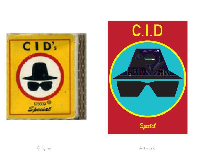 A reinterpretation of a popular matchbox label featuring a design tribute to the TV series CID.   (Photo courtesy: The Maachis Project)