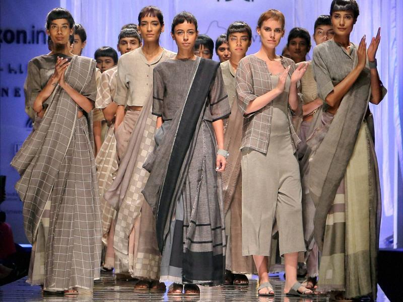 Amazon India Fashion Week (AIFW) kicked-off in New Delhi on Wednesday with 110 designers ready presenting their collections through the event. (PTI)
