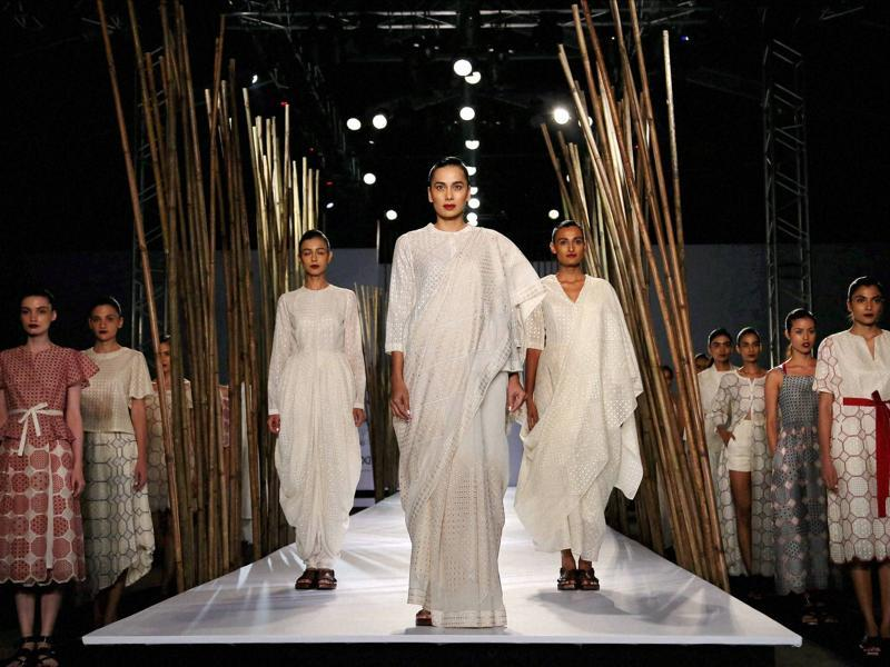 Organised by Fashion Design Council of India, and in its 28th edition, the fashion week returns to Delhi's NSIC grounds. (PTI)