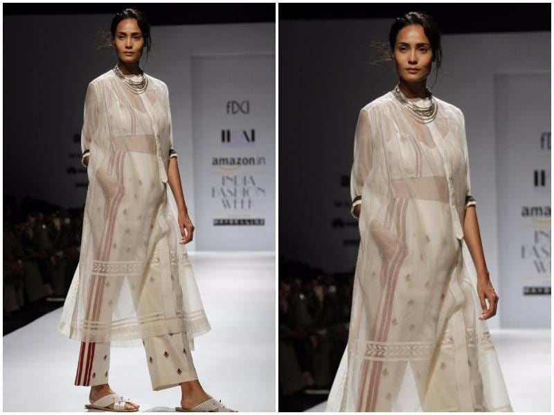 Sheer couldn't have looked sexier at Ragini Ahuja's show for IKAI. (Waseem Gashroo/HT Photo)