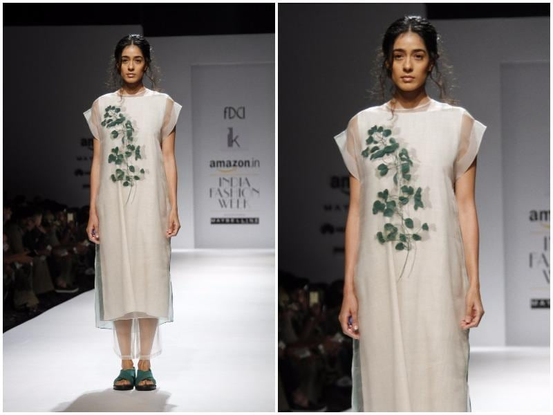 ILK by Shikha Goel and Vinita Adhikari saw some striking applique work. (Waseem Gashroo/HT Photo)