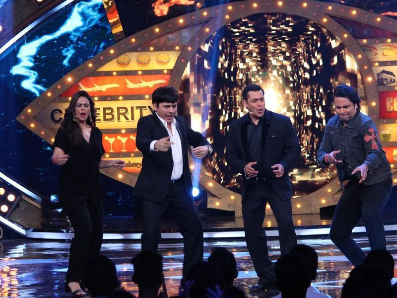 Salman Khan, who is all set to return with the tenth season of his hit show Bigg Boss on Sunday, will be all over the small screen on Saturday promoting the show. Actors Mona Singh, Krushna Abhishek and Suudesh join the Dabangg star in the celebrations.