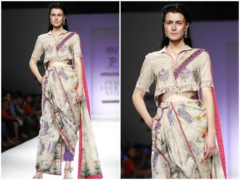 Designer Poonam Dubey's collection saw the amalgamation of modern and mughal art.
