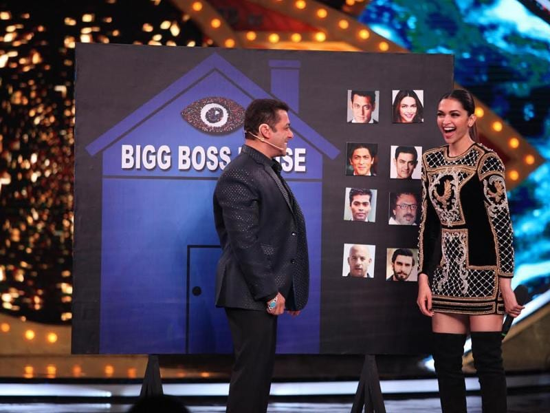 Deepika Padukone at the grand launch of Bigg Boss 10 with Salman Khan. (COLORS)