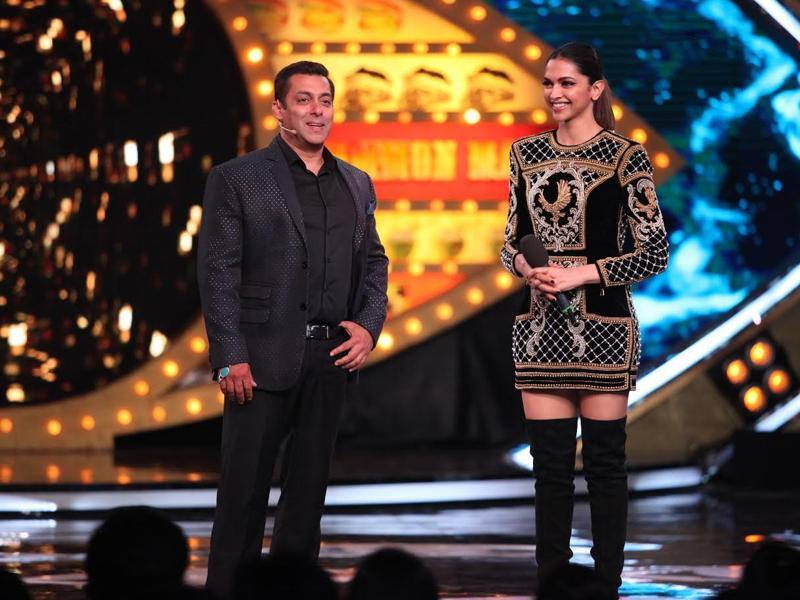 Salman Khan and Deepika Padukone come together for two grand launch events - the first trailer of Deepika's Hollywood debut xXx and the premiere  episode of tenth season of Salman's hit show Bigg Boss. (COLORS)