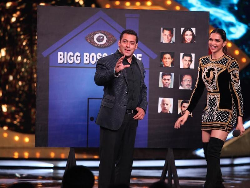 Deepika and Salman at the grand launch of Bigg Boss 10. (COLORS)