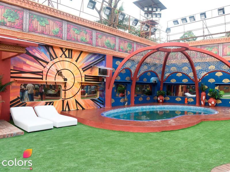Swimming pool in the Bigg Boss 10 house area. (COLORS)
