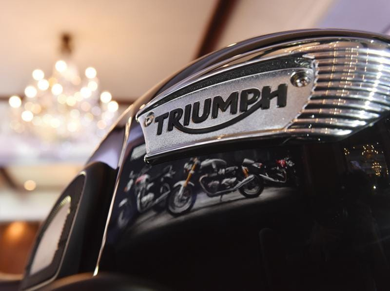 The Triumph Bonneville T100 was recently unveiled at the Intermot 2016 and will be placed between the Street Twin and Bonneville T120 in India. (Saumya Khandelwal/HT PHOTO)