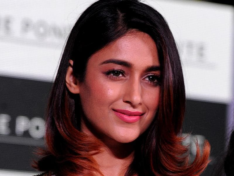 Ileana D'Cruz poses for a photograph during a promotional event in Mumbai. (AFP Photo)