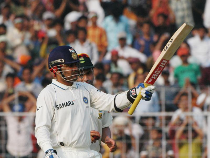 Sehwag scored 23 centuries and 32 half-centuries in 104-match Test career. (Subhankar Chakraborty/HT Photo)