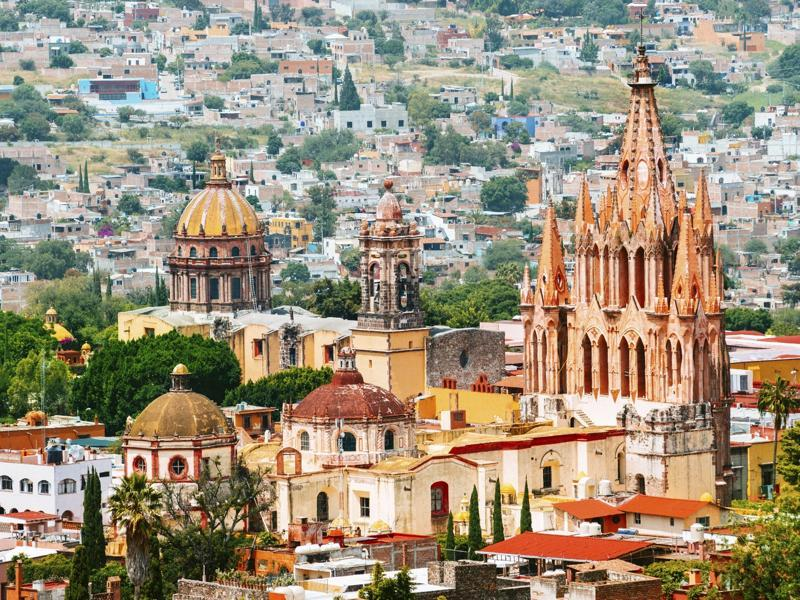 Located in central Mexico, San Miguel de Allende, is particularly known for its well-preserved historic centre, which is full of buildings from the 17th and 18th centuries. One particular church, Sanctuary of Atotonilco, is a World Heritage Site since 2008.