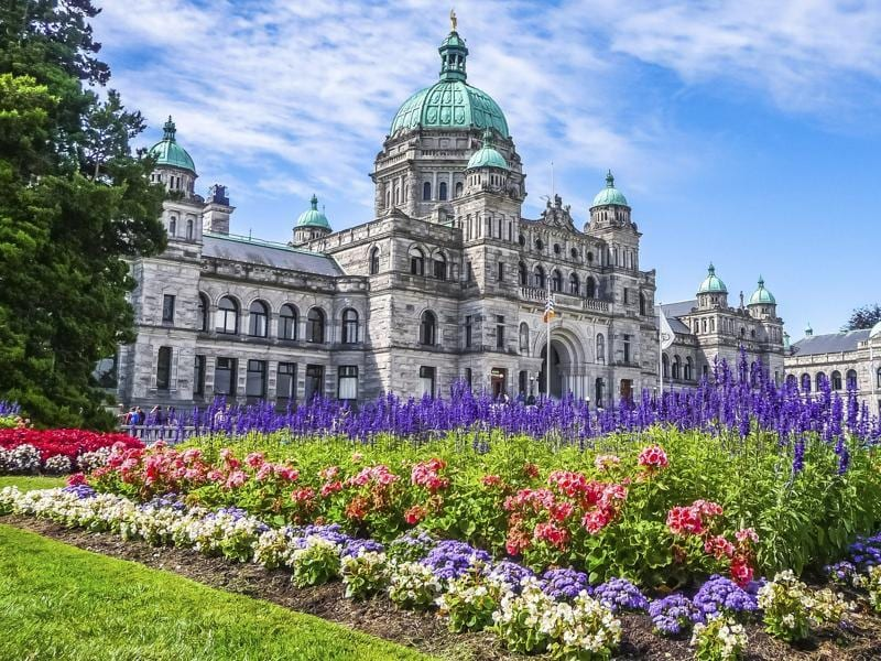 The capital of British Columbia in Canada, Victoria is located at the southern tip of Vancouver island, off the Pacific coast. Often called the 'The Garden City', it is an attractive city and a popular tourism destination. (Bluejayphoto/iStock)