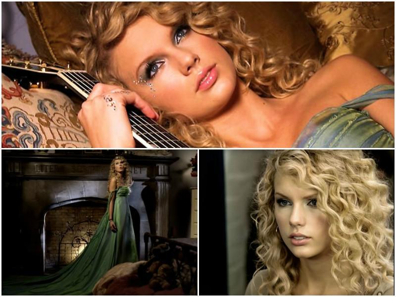 Taylor's debut album featured the song 'Teardrops on My Guitar' which was a huge hit. In 2006, she was still a rising star on the country music scene. She sported her iconic curly blonde hair  at the time.
