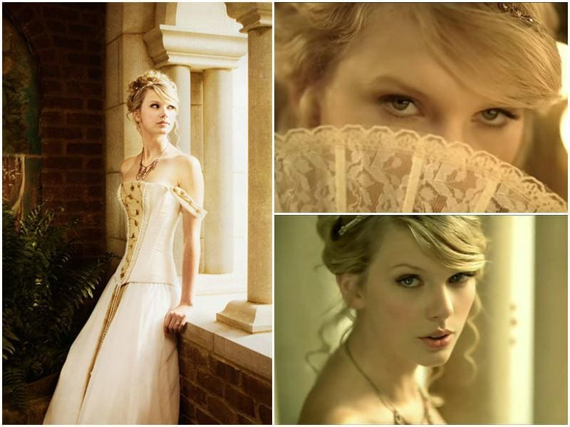 Love Story released in 2008 and almost instantly, every schoolgirl in all the parts of the world was singing it. The video showed Taylor in the story of Romeo and Juliet with a far more positive ending. Taylor curls started losing their wildness by this point.