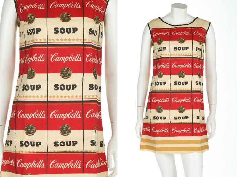 Fashion had an important place in the era. The Souper Dress (1966) is an iconic piece from the late 1960s, bringing Andy Warhol's famous Campbell's soup can to a dress. (AFP)
