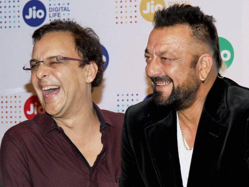 Vidhu Vinod Chopra and Sanjay Dutt at the festival. (PTI Photo)