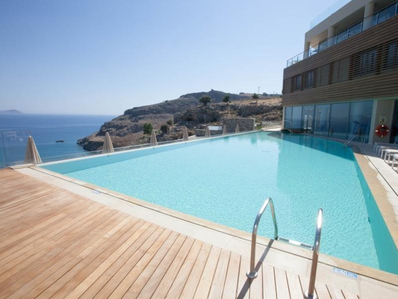 Lindos Blu, Lindos in Greece has been built like a hillside amphitheatre overlooking a picturesque bay. This beautiful retreat is ideal for relaxation and is ranked 6th. (AFP)