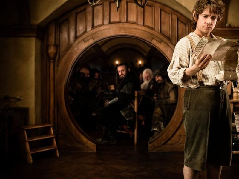 Martin Freeman as Bilbo Baggins in Peter Jackson's movie The Hobbit: An Unexpected Journey. (AFP)