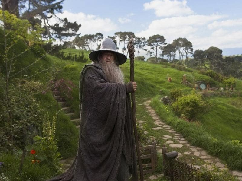According to figures released Wednesday, Oct. 26, 2016, tourism has overtaken dairy as the nation's top earner of overseas dollars. And tourism officials say the success of the fantasy movie trilogy The Hobbit has helped. Here, English actor Ian McKellen poses as Gandalf in Peter Jackson's new movie The Hobbit: An Unexpected Journey. (AFP)