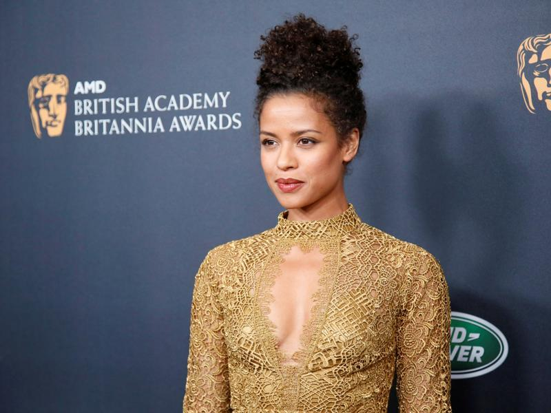 Actor Gugu Mbatha-Raw poses at the British Academy of Film and Television Arts (BAFTA) Los Angeles' Britannia Awards in Beverly Hills. (REUTERS)