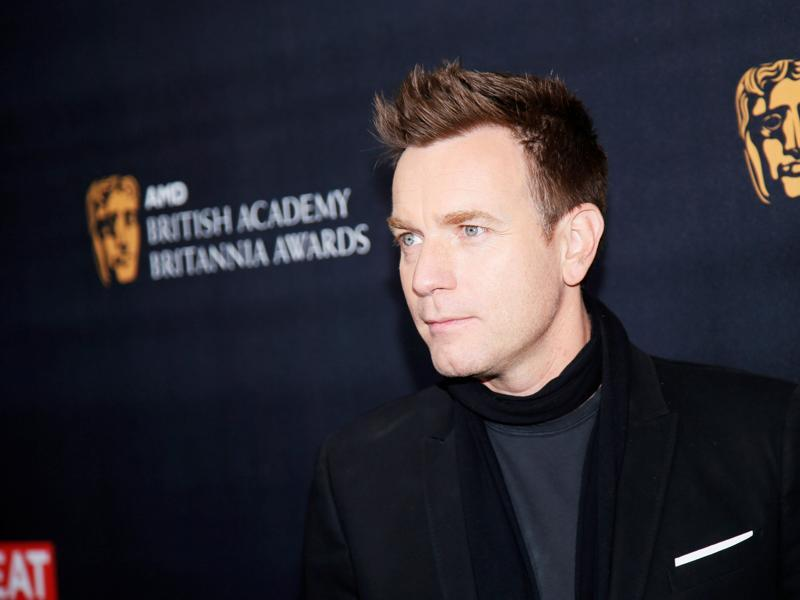 Britannia Humanitarian Award honoree Ewan McGregor poses at the British Academy of Film and Television Arts (BAFTA) Los Angeles' Britannia Awards in Beverly Hills. (REUTERS)