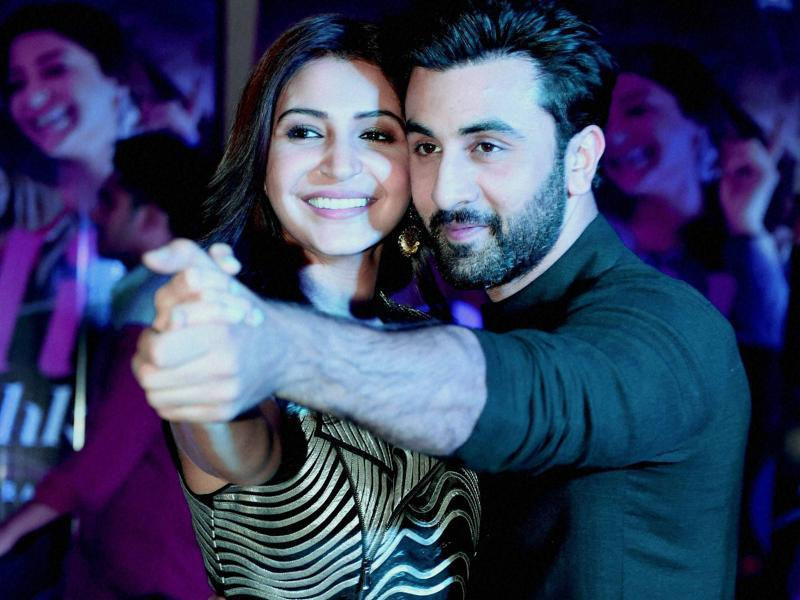 Ranbir Kapoor and Anushka Sharma celebrate Diwali during a promotional event in Gurgaon. (PTI Photo)